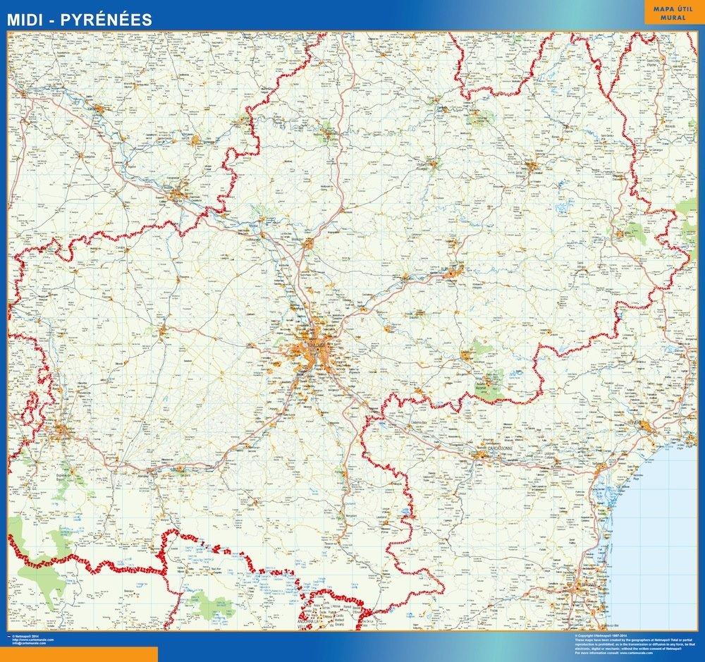 Carte Midi Pyrenees Magnetique Cartes France Et Monde Plastifiees Ou Magnetiques