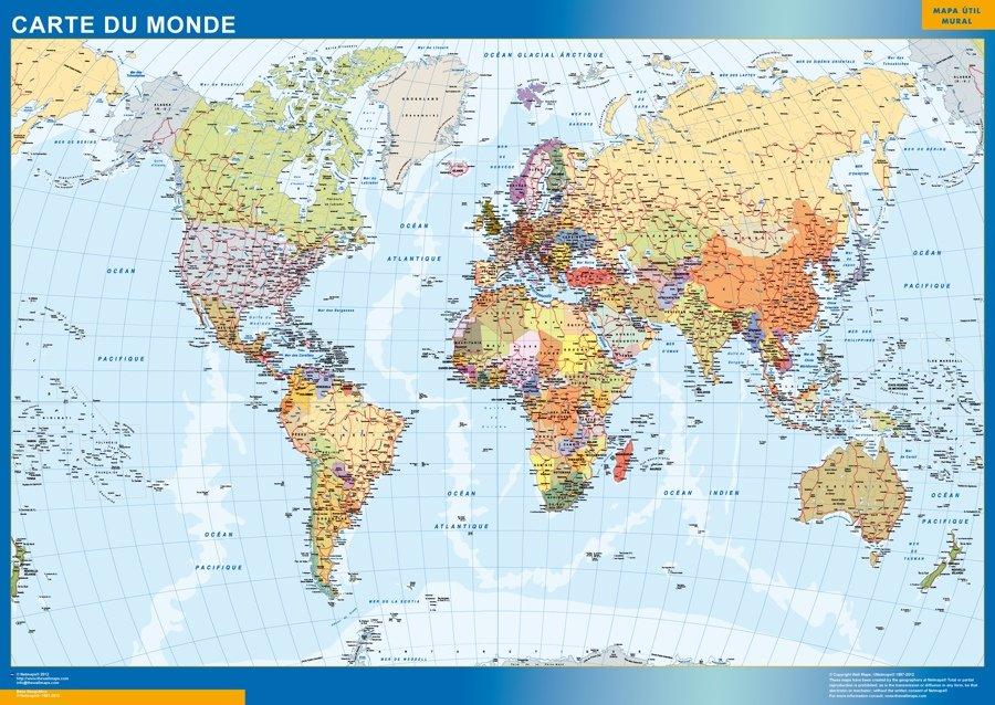 Carte Du Monde Plastifiee.Carte Monde Plastifiee Cartes France Et Monde Plastifiees Ou
